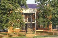 Courthouse, known as the Mclean House at Appomattox, Virginia, site of surrender and end of the Civil War Stock Image
