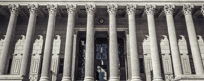 Courthouse in Lyon, France. Special photograpic processing royalty free stock photography
