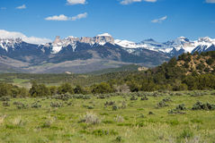 Courthouse Mountain. Near Ridgway, Colorado on a sunny day in early summer Royalty Free Stock Photos