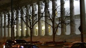 Courthouse at night stock footage