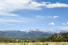 Courthouse Range. Mountain Range near Ridgway, Colorado Stock Photography