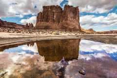 Courthouse Rock Reflection Stock Photography