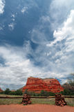 Courthouse Rock, Sedona, AZ Stock Image