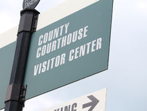 Courthouse Sign 4 Stock Image