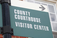 Courthouse Sign 2 Stock Image