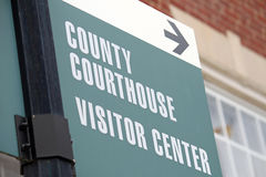 Courthouse Sign Royalty Free Stock Images