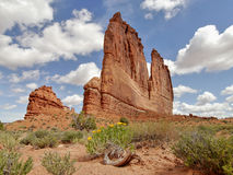 Courthouse Tower, Arches National Park Royalty Free Stock Photography