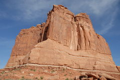 Courthouse Towers. At Arches National Park in Utah royalty free stock photo