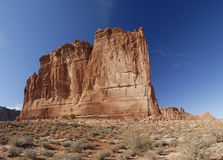 Courthouse Towers in Arches National Park Royalty Free Stock Photos