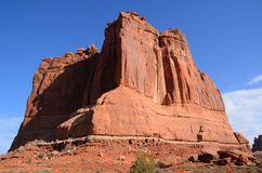 Courthouse Towers in Arches National Park Stock Image