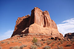 Courthouse Towers in Arches National Park Stock Photography