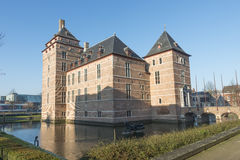 Courthouse Turnhout. TURNHOUT-BELGIUM-DECEMBER 30, 2016. Castle of the Dukes of Brabant 12th century. In the 18th and 19th century it fell into disrepair and has royalty free stock photography