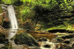 Courthouse Waterfall II Off The Blue Ridge Parkway stock images