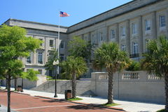 Courthouse in Wilmington, NC. Altom Lennon Federal Building and United States Courthouse located on the Cape Fear river in Wilmington, NC Stock Photos