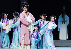 "Courtiers Missy-wealthy and influential family-Jiangxi opera ""Red pearl"" Royalty Free Stock Photo"