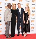 Courtney B Vance, Julia Roberts, Kathryn Newton e Peter Hedges assiste al prima del ` di Ben Is Back del ` durante il TIFF2018 fotografia stock libera da diritti