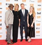 Courtney B. Vance, Julia Roberts, Kathryn Newton and Peter Hedges attends the `Ben Is Back` premiere during TIFF2018 royalty free stock photography