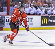 IIHF Women's Ice Hockey World Championship. Courtney Birchard in action for Team Canada during their comprehensive 13-0 victory over Switzerland in their second Royalty Free Stock Photography