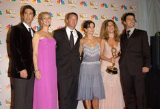 Courtney Cox, Courtney Cox Arquette, David Schwimmer, Lisa Kudrow, Matt LeBlanc, Matthew Perry, Jennifer Aniston Lizenzfreies Stockfoto