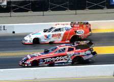 Courtney Force vs Fast Jack Beckman Stock Images