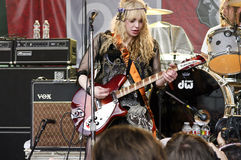 Courtney Love-Spiele SXSW 2010 Lizenzfreie Stockfotografie