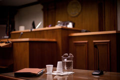 Courtroom. Photograph of a courtroom using shallow depth of field