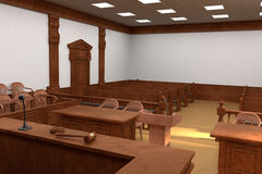 Courtroom bench Stock Images