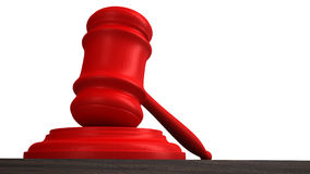 Courtroom gavel or auction hammer Royalty Free Stock Photography