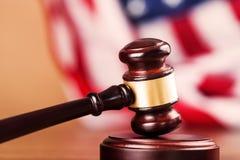 Courtroom. Gavel Law Legal System Justice Flag Crime stock images