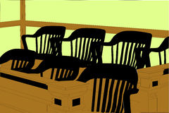 Courtroom Jury Duty Seating Area with Chairs Royalty Free Stock Photography
