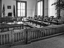 Courtroom, Lander County, Nevada courthouse. Courtroom, Lander County Courthouse in Austin, Nevada stock image