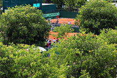 Courts of Roland Garros Royalty Free Stock Image