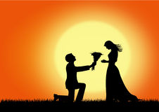 Courtship,vector image. Royalty Free Stock Photography