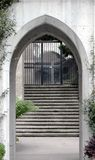 Courtyard. Grace Catherdal Church,San Francisco,Ca stock images