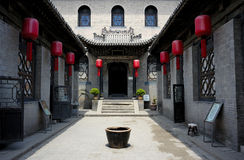 Courtyard. The Famous traditional Red-Lantern Courtyard of Family Qiao in Shannxi province,China Royalty Free Stock Images
