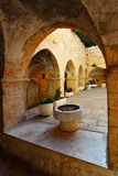 Courtyard. At Mount Zion, Jerusalem, Israel Royalty Free Stock Photos