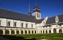 Courtyard of Abbaye de Fontevraud Royalty Free Stock Photos
