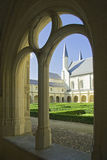 Courtyard of Abbaye de Fontevraud Royalty Free Stock Photo