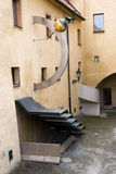 Courtyard Abstract Architecture Royalty Free Stock Photography
