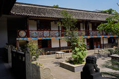 Courtyard of aged Chinese building Royalty Free Stock Photo