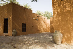 Courtyard Of Al Ain Museum. Partial view of courtyard at Al Ain Palace Museum, Al Ain, Dubai, UAE Stock Photography
