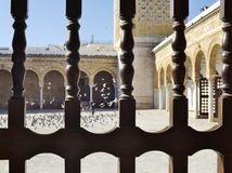 Courtyard of the Al-Zaytuna Mosque in Tunis, Tunisia. Stock Photography