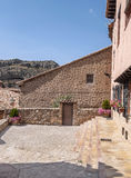 Courtyard of Albarracin Stock Photo