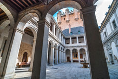 Courtyard at Alcazar. Royalty Free Stock Image