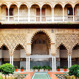 Courtyard in Alcazar Stock Photos