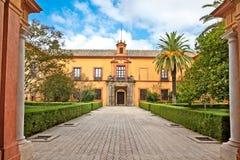 Courtyard of Alcazar, Seville,  Spain Stock Photos