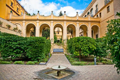 Courtyard of Alcazar, Seville, Spain Stock Photo