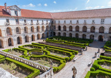 Courtyard of Alcobaca Monastery Stock Images