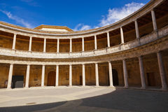 Courtyard in Alhambra palace at Granada Spain Stock Images