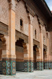 Courtyard of Ali Ben Youssef Madrasa Royalty Free Stock Images